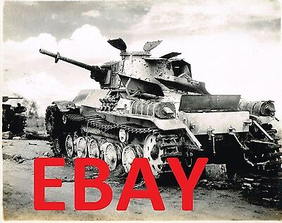 WW2 Photo WWII Abandoned Japanese Tank on Beach  World War Two Pacific 4169