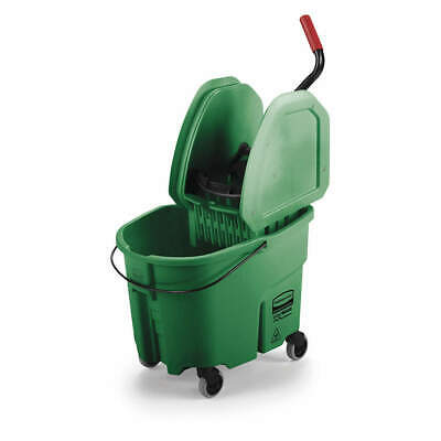 RUBBERMAID Mop Bucket and Wringer,8.75 gal.,Green, FG757888GRN, Green