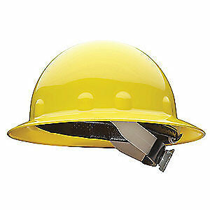 HONEYWELL FIBRE-METAL Hard Hat,8 pt. Ratchet,Ylw, E1SW02A000, Yellow