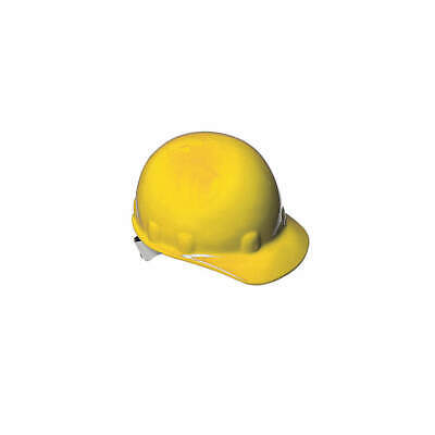HONEYWELL FIBRE-METAL Hard Hat,8 pt. Ratchet,Ylw, E2RW02A000, Yellow