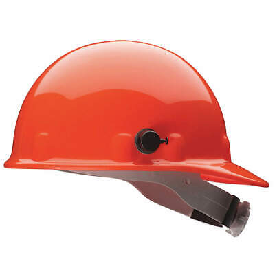 HONEYWELL FIBRE-METAL Hard Hat,8 pt. Ratchet,Or, E2QSW03A000, Orange