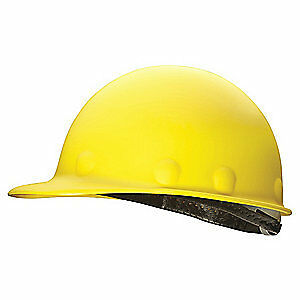 HONEYWELL FIBRE-METAL Hard Hat,8 pt. Ratchet,Ylw, P2AW02A000, Yellow