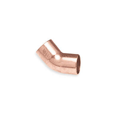 "NIBCO Elbow,45 Deg.,Wrot Copper,1-1/4"",CxC, 606 11/4"
