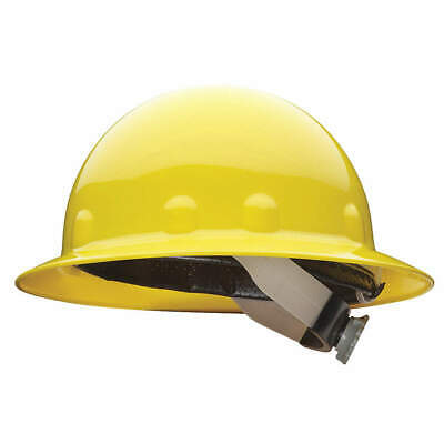 HONEYWELL FIBRE-METAL Hard Hat,8 pt. Ratchet,Ylw, E1RW02A000, Yellow