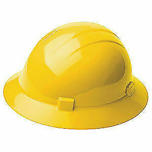 ERB SAFETY Hard Hat,4 pt. Ratchet,Ylw, 19222, Yellow