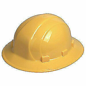 ERB SAFETY Hard Hat,6 pt. Ratchet,Ylw, 19912, Yellow