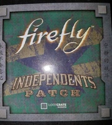 FIREFLY INDEPENDENCE PATCH | Loot Crate December 2016 Revolution NEW