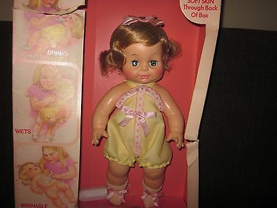 Vintage Horsman Vinyl Doll, Baby Sofskin, New in Damaged Box