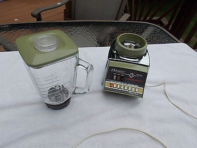 Oster Osterizer Imperial Pulse Matic blender 5 cup Avocado Green 1970's 10 speed