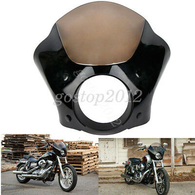 Gauntlet Headlight Fairing With Trigger Lock Mount For Harley Sportster DynaIron