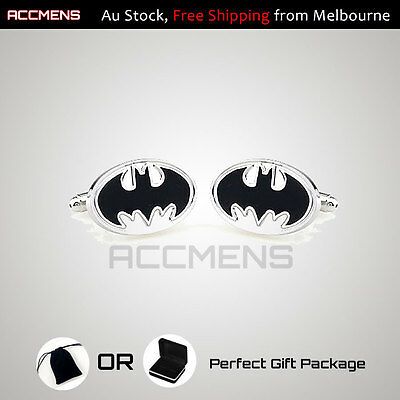 Mens Cufflinks Batman Superhero Stainless Novelty Fun Party Farthers Day Gift