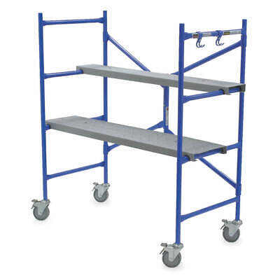 WERNER Aluminum Portable Scaffold,4 ft. H,Steel, PS-48