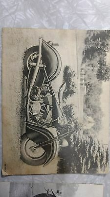 Vintage Rare Original Indian Motorcycle Advertisement Sell's Card Lot Of 2