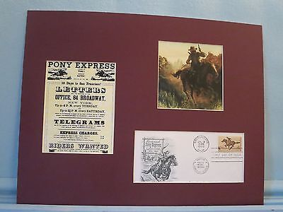 The Pony Express & First day Cover of the stamp issued for its 100th Anniversary