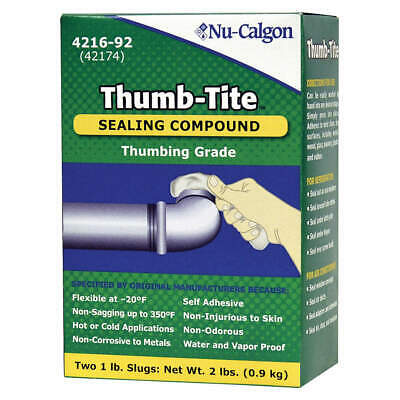 NU-CALGON Sealing Compound,2 lb. ,White, 4216-92, White