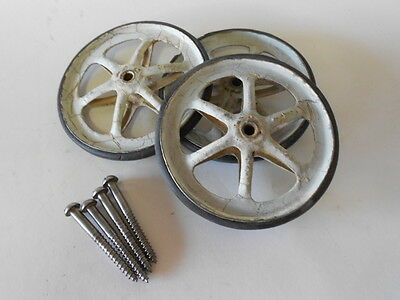 3 Vintage Baby Buggy or Toy Tires/Wheels