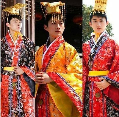 2017 NEW Chinese Han Clothing Emperor Prince Show Cosplay Suit Robe Costume