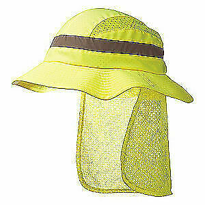 SURFLEX Bump Cap,Front Brim,Hook-and-Loop,Yellow, SCARAB1YLW