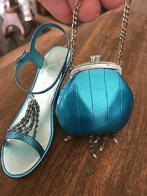 Collectable Miniature Shoe Figurines With Matching Purse