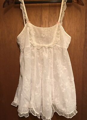 BETSEY JOHNSON Intimates Teddy Top white cotten  Sz Small