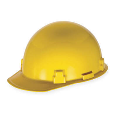 MSA Hard Hat,4 pt. Ratchet,Ylw, 486959, Yellow