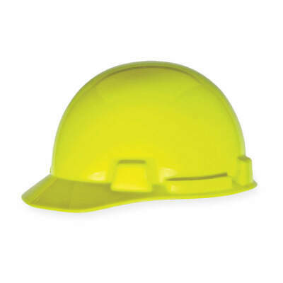 MSA Hard Hat,4 pt. Ratchet,Hi-Vis Ylw/Grn, 10074084, Hi-Visibility Yellow/Green