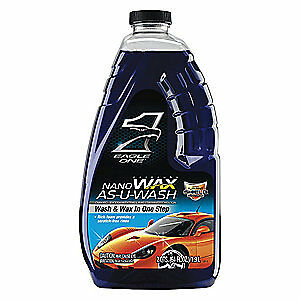EAGLE 1 Car Wax As-U-Wash Liquid,Blue,64 oz., 836605, Blue
