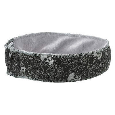 CHILL-ITS BY ERGODYNE Terrycloth Bandana,Black/White,Skulls, 6605, Black/White