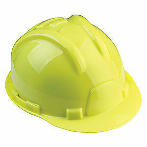 TASCO Hard Hat,6 pt. Ratchet,Hi-Vis Grn, 100-72000, Hi-Visibility Green