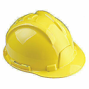 TASCO Hard Hat,6 pt. Ratchet,Ylw, 100-32000, Yellow