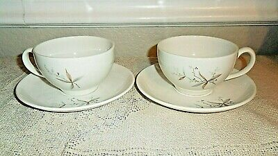 2 Syracuse Carefree True China Finesse Cups And Saucers 1958-1967