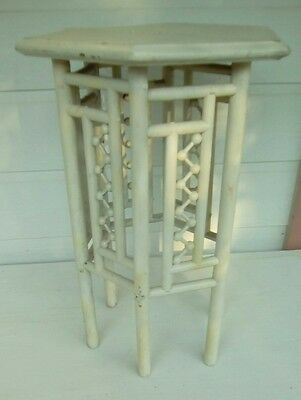 Antique Stick and Ball Accent Lamp Table,  Plant or Night Stand