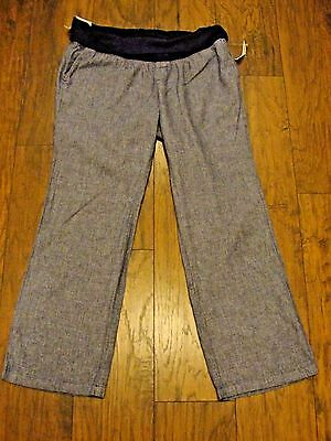 NWT Old Navy Blue Linen Maternity Pants Size Large Retails $36.94