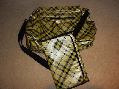 Baby diaper bag yellow and black MICHE with changing pad - EUC