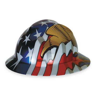 MSA Hard Hat,C, E,Red/White/Blue/Gold, 10071159, Red/White/Blue/Gold