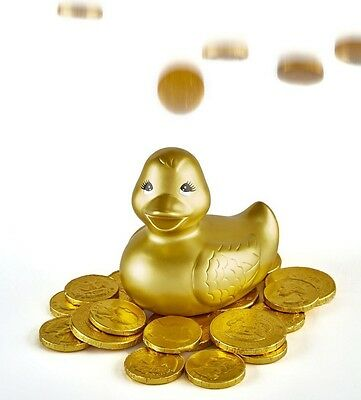 New Bath & Body Works Gold Rubber Ducky Duck Plastic Cute Decor Limited Edition