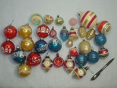 Selection Of Vintage Glass Christmas Tree Ornaments