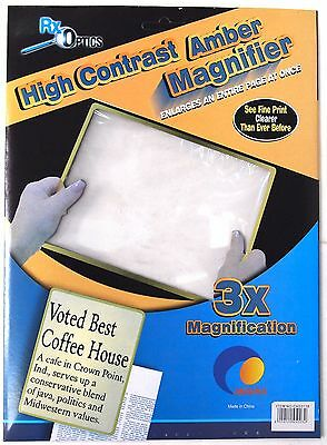 Large Magnifying Sheet - Low Vision Paper Magnifier Battery Neck Eyes Magnify