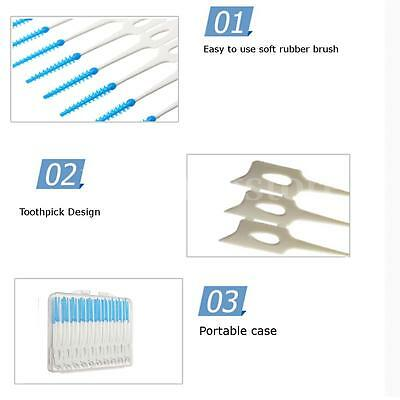 Wholesale 40pcs Soft Interdental Sticks Brushes Oral Floss Tooth Pick Gum Care