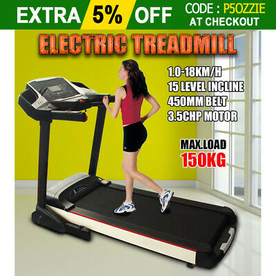 3.5HP Electric Treadmill Exercise Equipment Machine Quiet Fitness Home Gym NEW