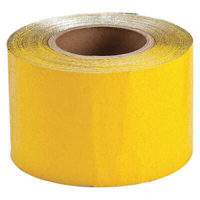 BRADY Vinyl Pavement Marking Tape,150 ft. Lx4in. W, 78262, Reflective Yellow