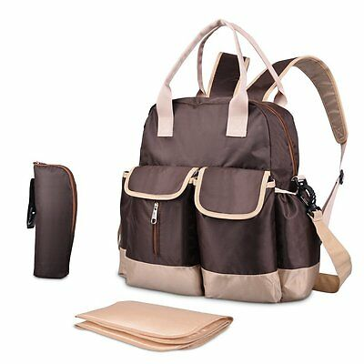 Diaper Bag-Waterproof backpack with Changing Pad,Shoulder Straps and Thermal