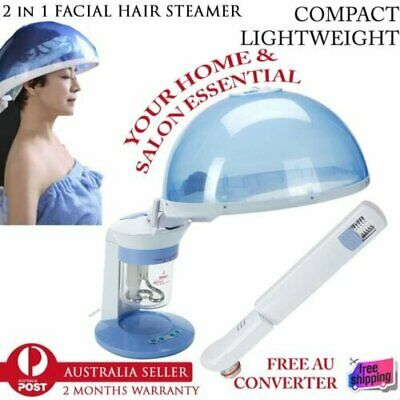 New 2in1 Personal Facial Table Top Face & Hair Hot Portable Salon Ozone Steamer