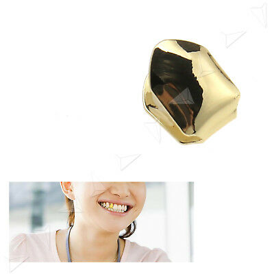 Hip Hop Gold Plated Teeth Single Tooth Grill Grillz Mouth Vergoldeter Zähne Deko