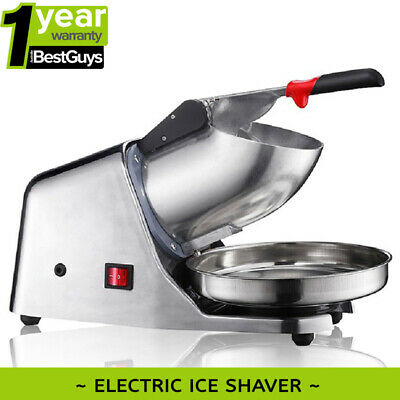 BRAND NEW ICE SHAVER / ICE CRUSHER 65KG/H 300W Australia RCM Certified