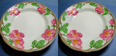 Two Franciscan Desert Rose Dinner Plates 11 Inches Wedgwood England