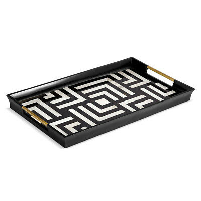 NEW L'objet Dedale Black & White Tray Large