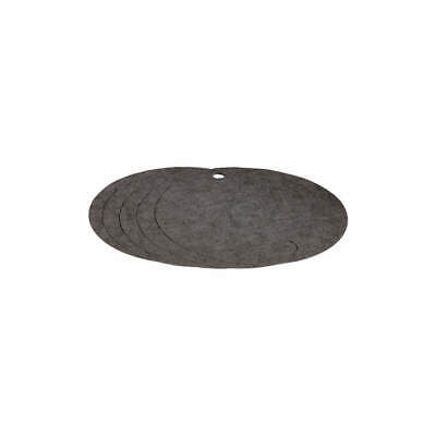 PIG Polypropylene Drum Top Absorb Pad,Universal,Gray,PK5, 25102, Gray