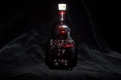Antique Bottle Miniature Wheaton NJ Ruby Glass The King's Patent Balsam of Life