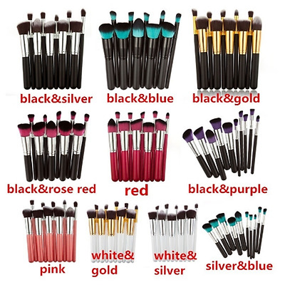 Lot 10pcs Toiletry Kit Brushes Women's Make Up Brush Set Superb Necessary Well